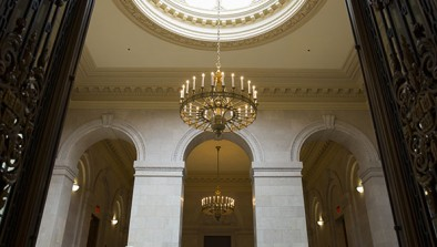 LED bulbs in Widener chandelier