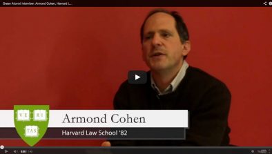 Armond Cohen Green Alumni Video
