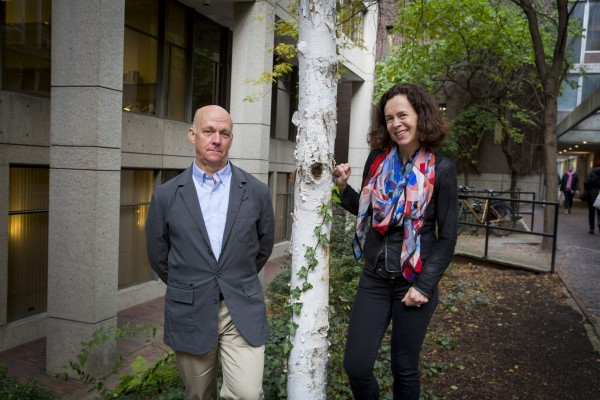 2016-2017 Climate Change Task Force Co-Chairs Professors Bill Clark and Rebecca Henderson.