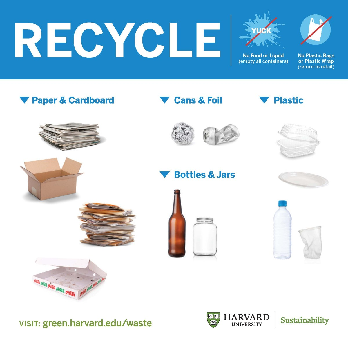 image about Printable Recycling Signs titled Signage Sustainability at Harvard