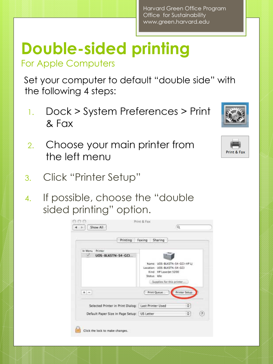 Double-sided Printing for Apple Computers