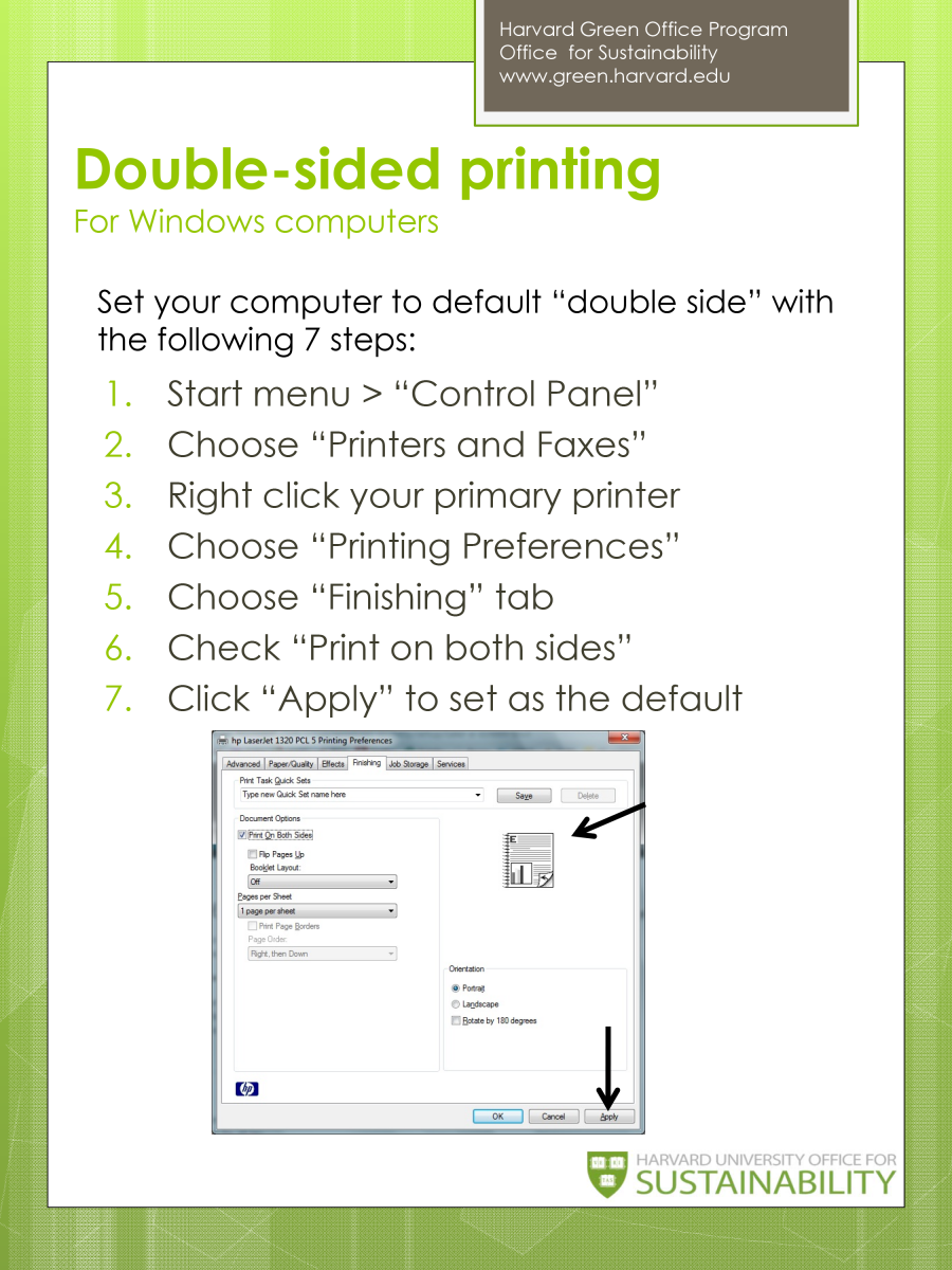 Double-sided Printing for Windows