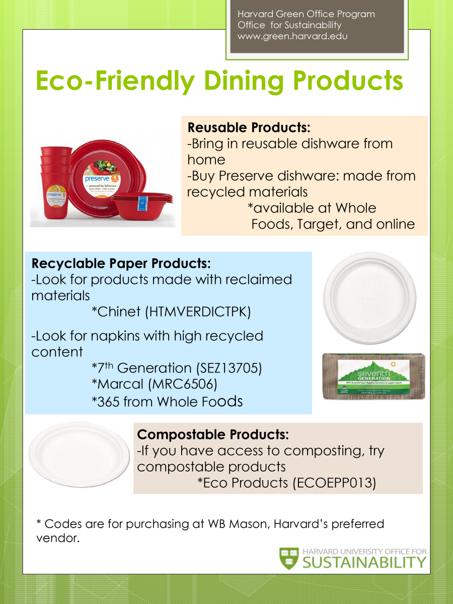 Eco-Friendly Dining Products