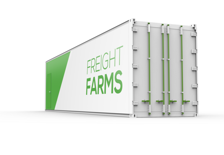Freight Farm's Leafy Green Machine. Source: https://www.freightfarms.com/leafygreenmachine/