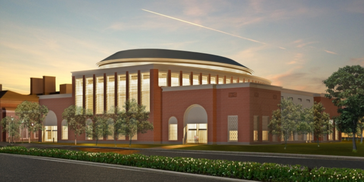 Rendering of HBS Klarman Hall.