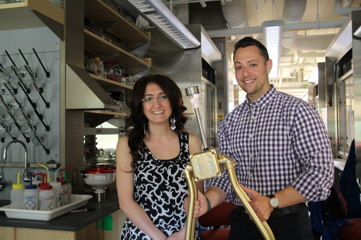 Dilek Dogutan Kiper, Principal Research Scientist for the Nocera Group, and Anthony Michetti, FAS Green Program Coordinator.