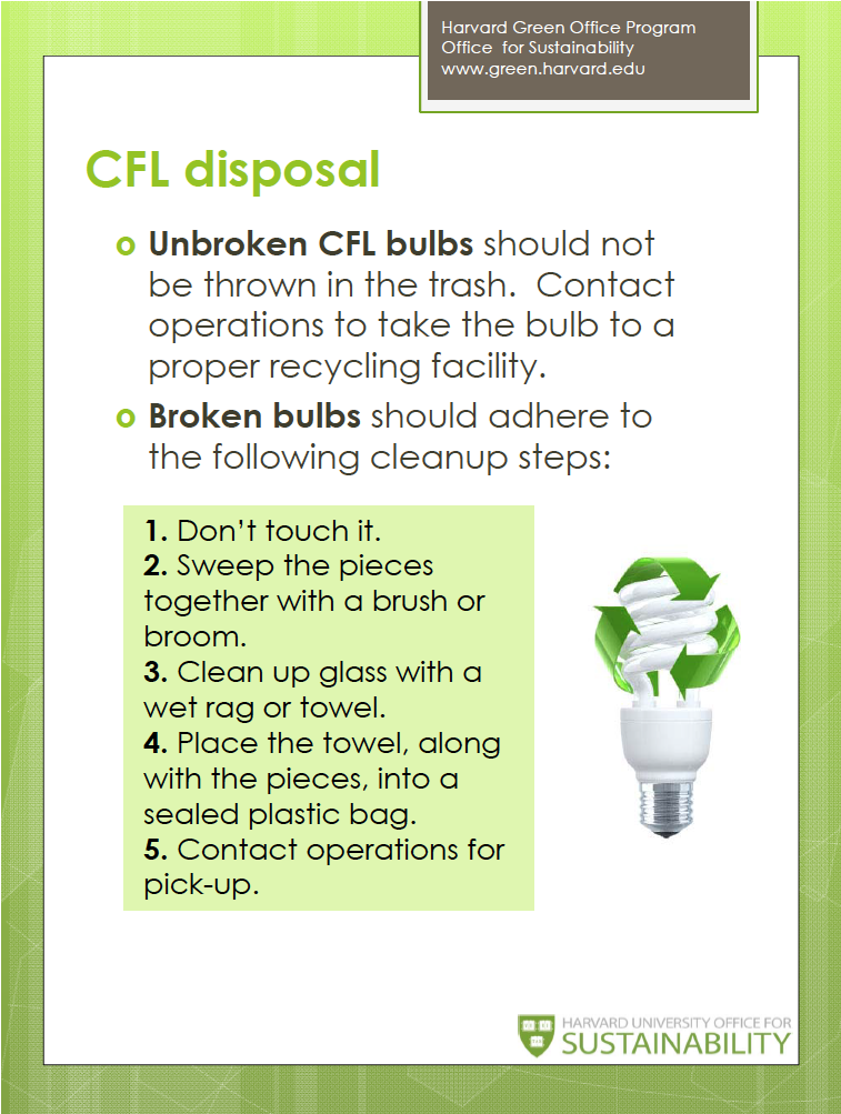 Proper CFL Disposal