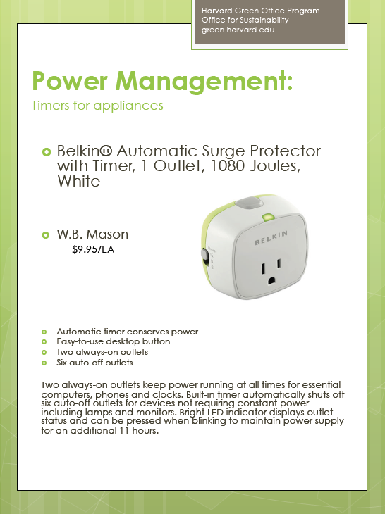 Power management for various devices