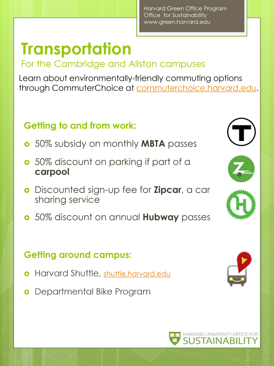 Transportation for Cambridge/Allston Campuses