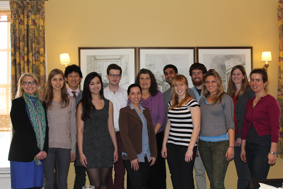 Scientist Arlene Blum met with student environmental leaders from across campus to discuss her research