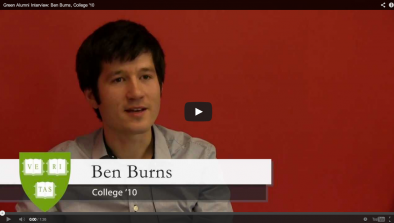 Ben Burns Green Alumni Video