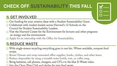 Check off sustainability this fall