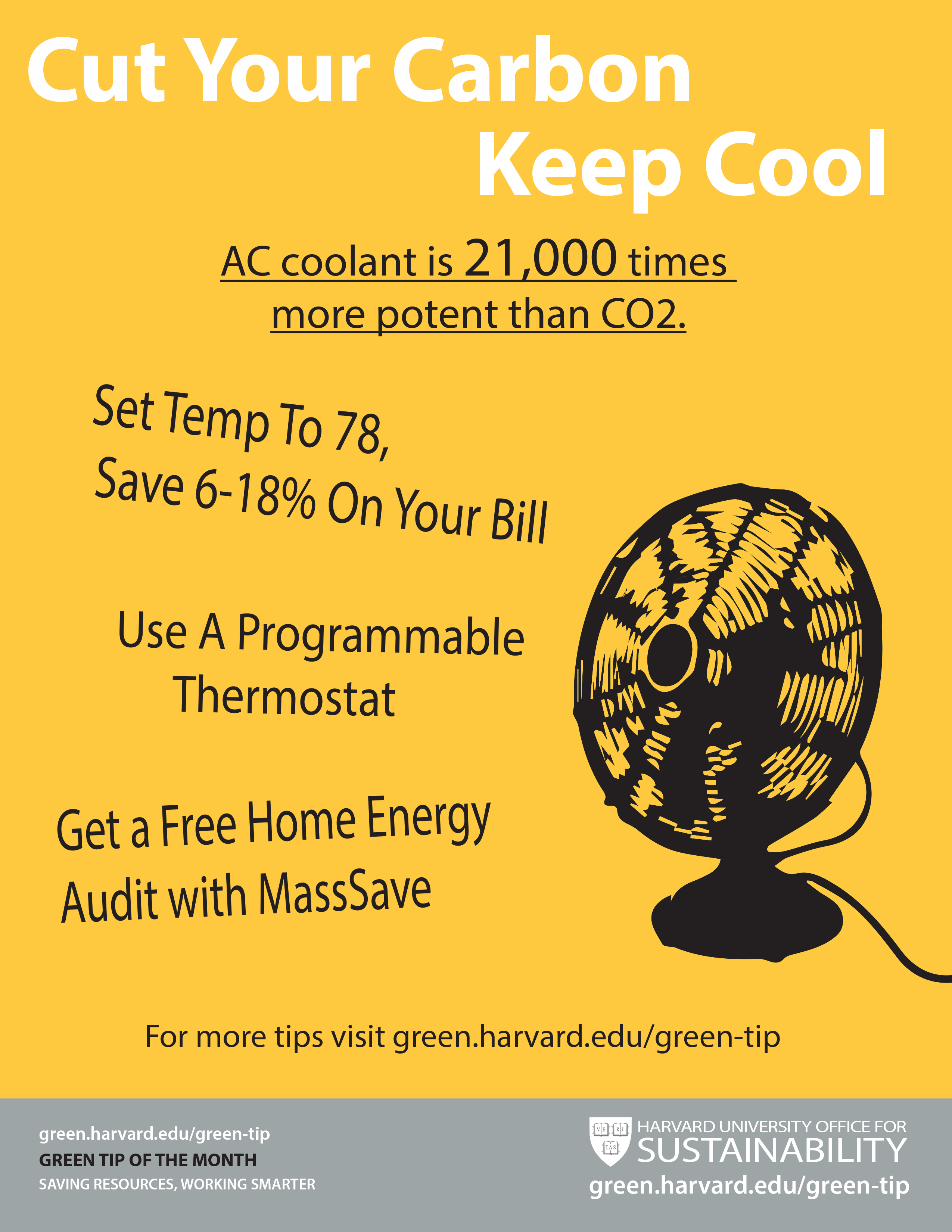 Keep Cool And Cut The Carbon Sustainability At Harvard