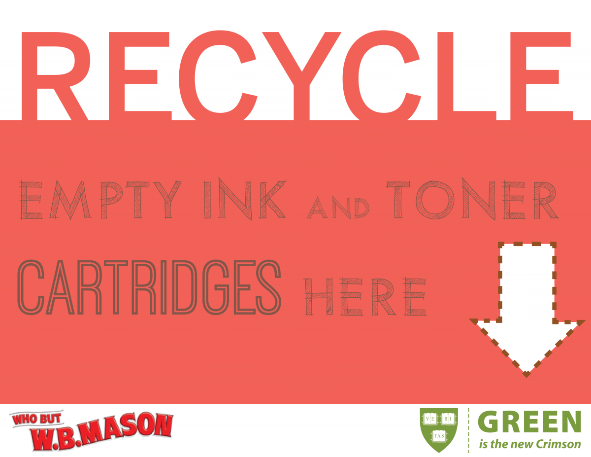 Recycle Empty Ink and Toner Cartridges Poster
